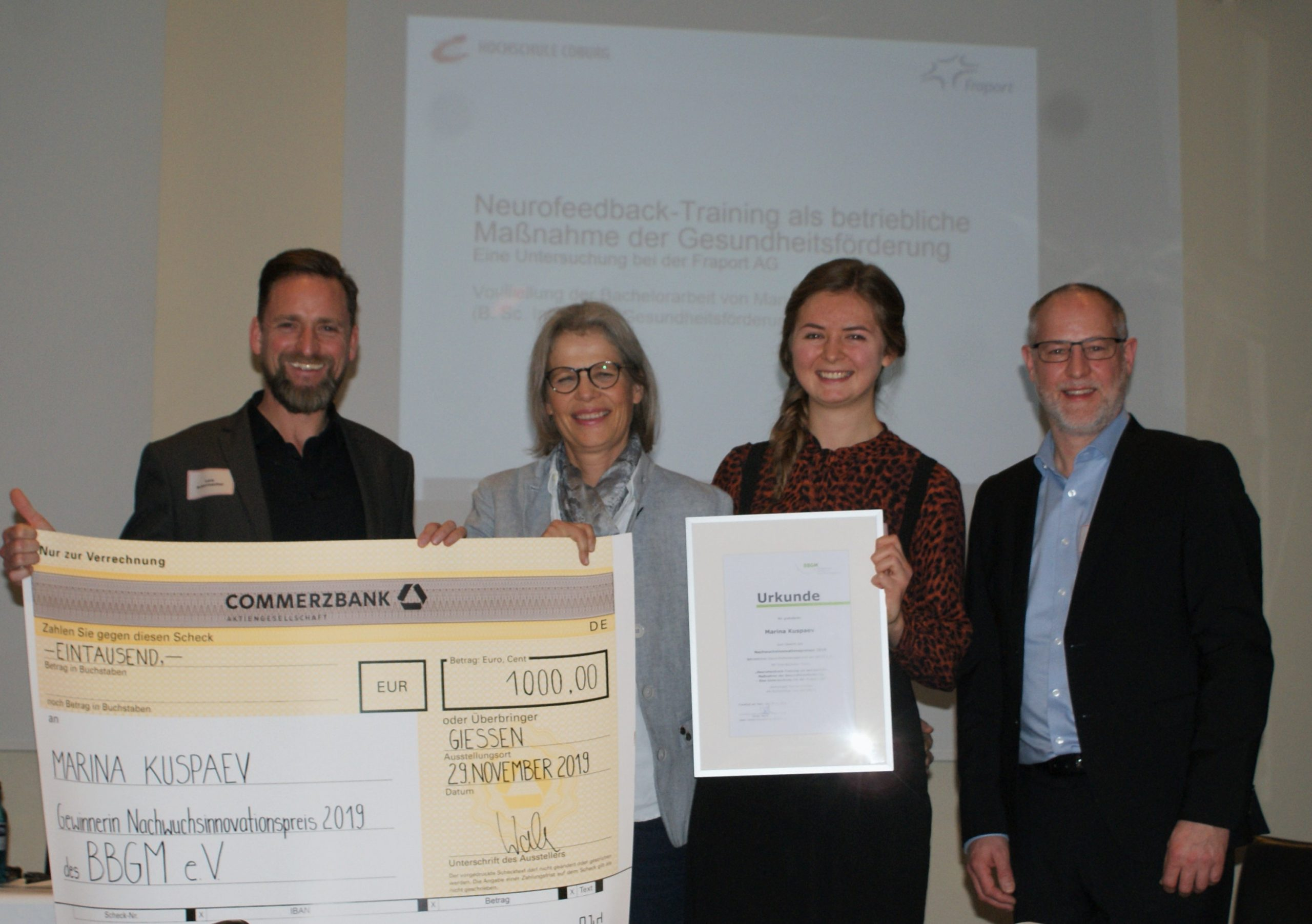 Verleihung Nachwuchsinnovationspreis (NIP) 2019