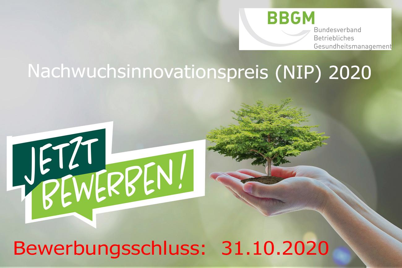 Nachwuchsinnovationspreis NIP 2020 des BBGM e. V.